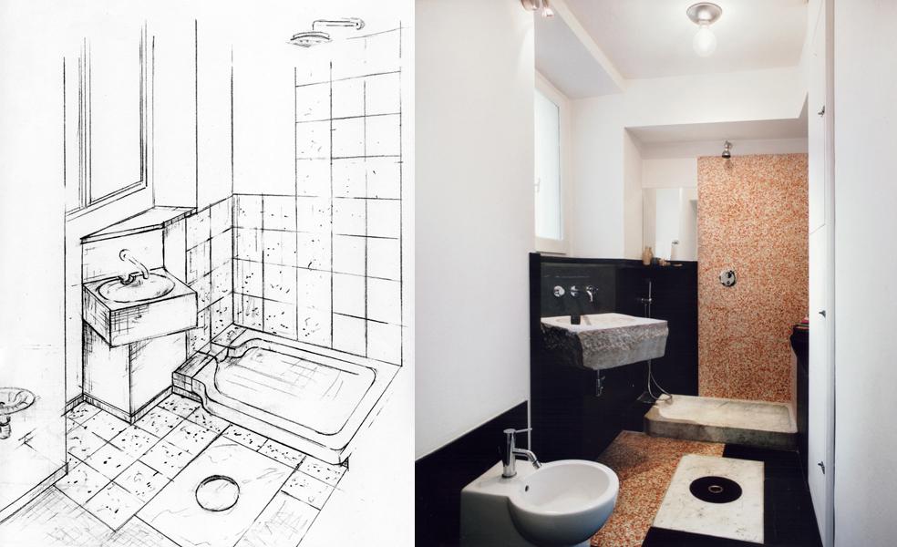 bagno graniglia  Giuseppe Di Palo Architect